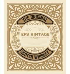 Art-deco whiskey card vector