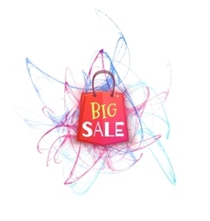 Big sale banner with red packet vector image vector image