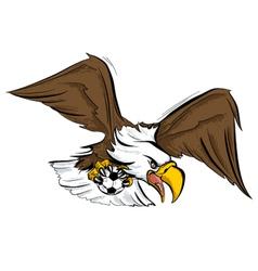 eagle football sport mascot vector image