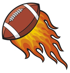 Football in Fire vector image vector image