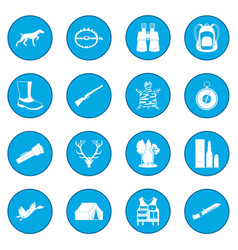 hunting black icon blue vector image