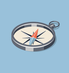 simple isometric compass vector image vector image