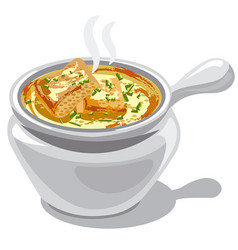 french onion soup vector image vector image