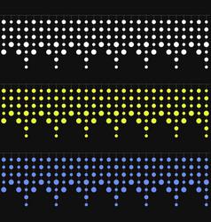 seamless christmas garlands set on dark background vector image vector image