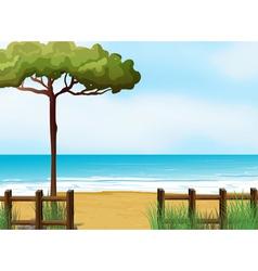 A quiet beach vector image vector image