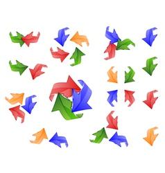 Arrow icon set a white background vector image