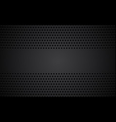 perforated black metallic background vector image