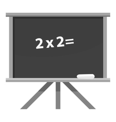 School board icon gray monochrome style vector image vector image