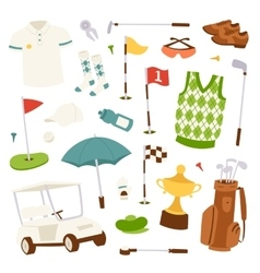 set of golf icons vector image