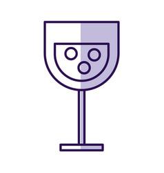Shadow cartoon glass wine vector
