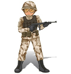 A brave soldier vector image