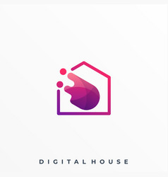 abstract circle home colorful design template vector image