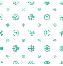 Accuracy icons pattern seamless white background vector