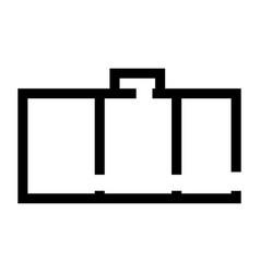 Apartment plan black color icon vector