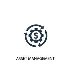 Asset management icon simple element vector