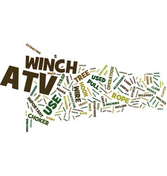 Atv winch text background word cloud concept vector