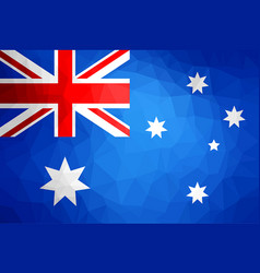 Australia flag abstract polygon background vector