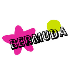 Bermuda sticker stamp vector