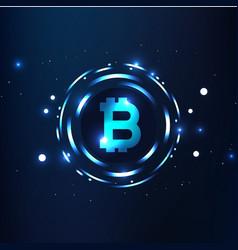 Bitcoins digital currency logo sigh image vector