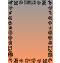 black mexican border on gradient vector image