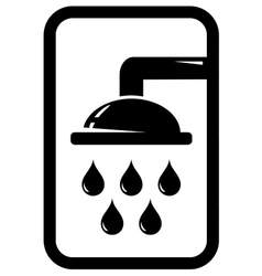 Black shower icon vector