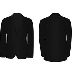 Black suit vector