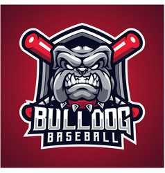 bulldog baseball esport mascot logo vector image