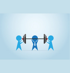 Businessmen coaching another businessman vector