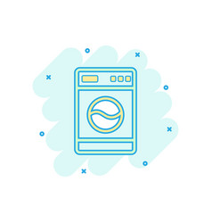 cartoon washer icon in comic style laundress sign vector image