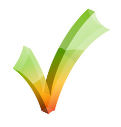 checkmark tick 3d icon vector image