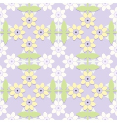 Childrens floral seamless pattern vector image