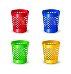 Colored realistic plastic office waste pads for vector