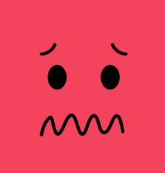 confused funny emotion emoji sad face vector image