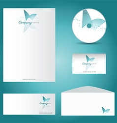 Decorative stationery mock up 2901 vector