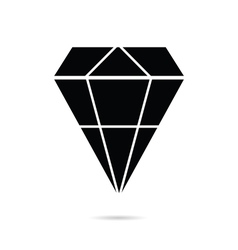 Diamond perfect in black color icon vector