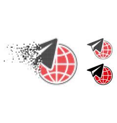 Dissolved pixel halftone freelance icon vector