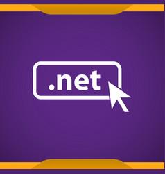 Domain net icon top-level internet domain vector