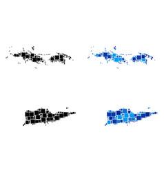 Dot usa virgin islands map with blue version vector