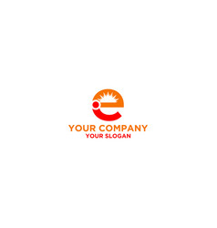 Ei sun logo design vector