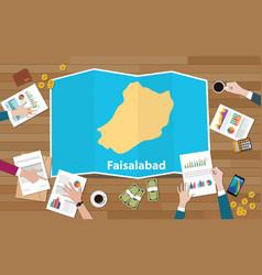 Faisalabad punjab pakistan city region economy vector