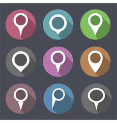 Flat Map Markers vector