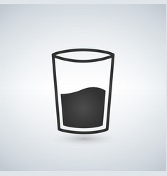 glass of water icon isolated on white vector image