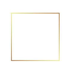 gold frame border golden thin boarder vector image