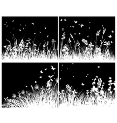 grass set vector image