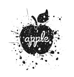 grunge apple2 vector image