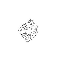 Hand drawn antique lion creative tattoo vector