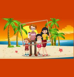 happy family photo on vacation vector image