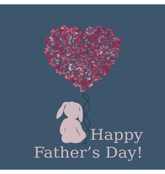 Happy fathers day template vector