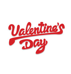 happy valentines day beautiful inscription with vector image