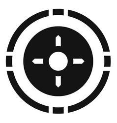 hunting gun aim icon simple style vector image